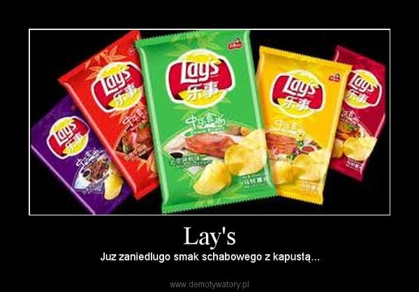 Lay's – Juz zaniedlugo smak schabowego z kapustą...