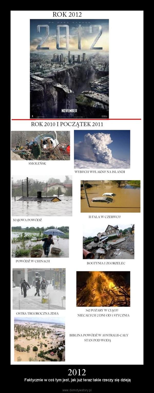 2012 – Faktycznie w coś tym jest, jak już teraz takie rzeczy się dzieją