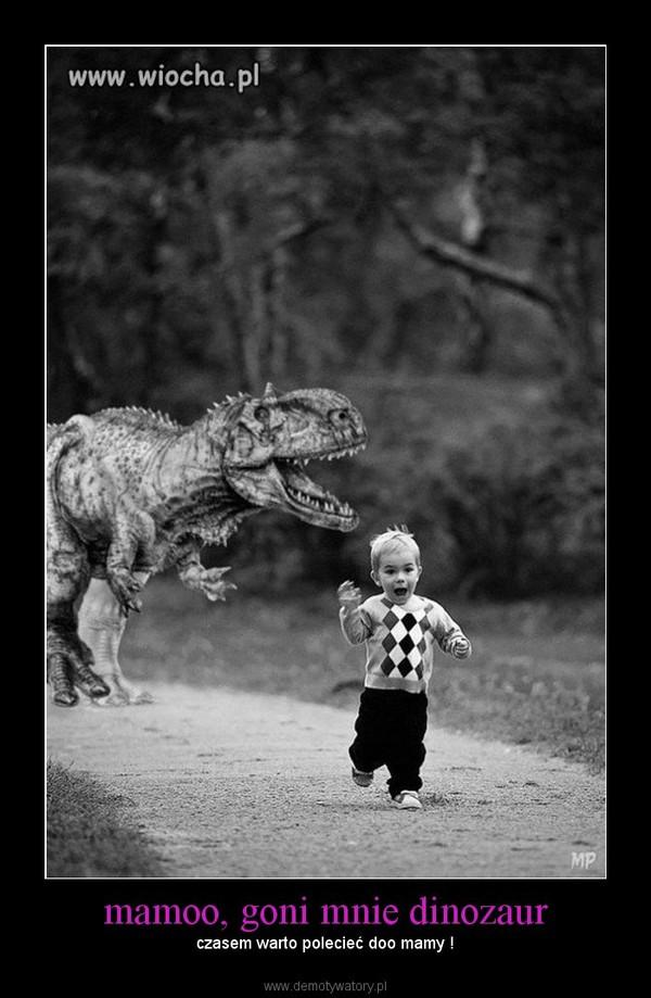 mamoo, goni mnie dinozaur – czasem warto polecieć doo mamy !