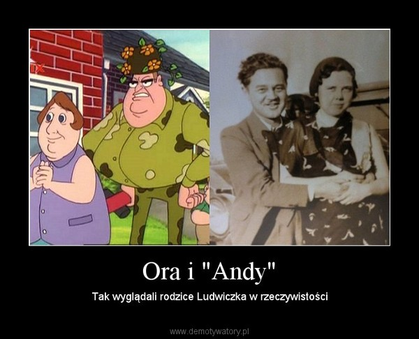 """Ora i """"Andy"""" – Tak wyglądali rodzice Ludwiczka w rzeczywistości"""