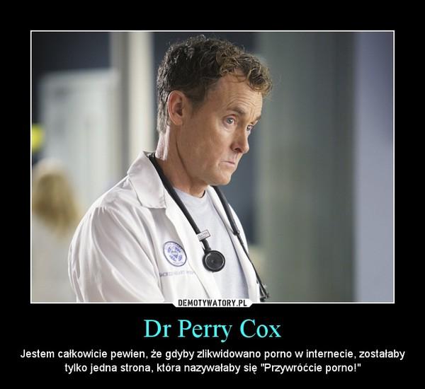 """Dr Perry Cox – Jestem całkowicie pewien, że gdyby zlikwidowano porno w internecie, zostałaby tylko jedna strona, która nazywałaby się """"Przywróćcie porno!"""""""