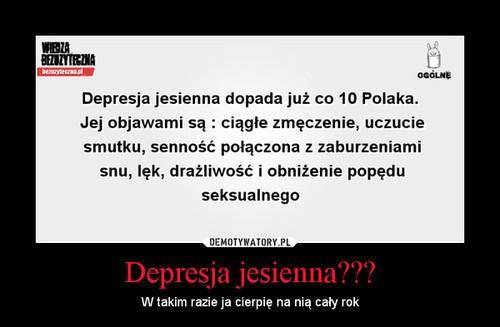 Depresja jesienna???