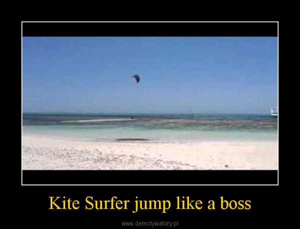 Kite Surfer jump like a boss –