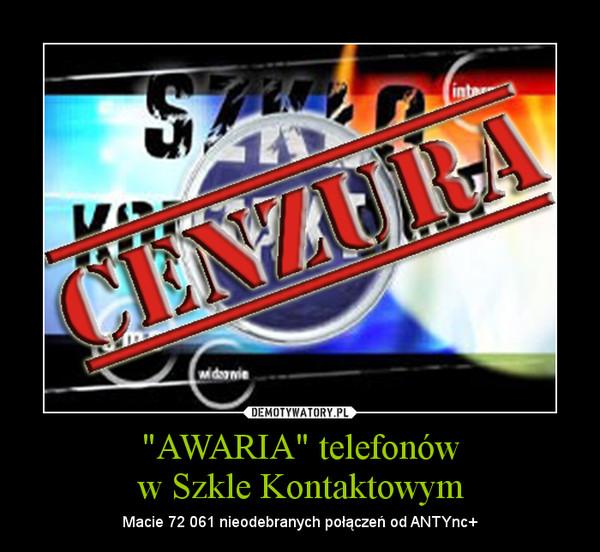 """""""AWARIA"""" telefonóww Szkle Kontaktowym – Macie 72 061 nieodebranych połączeń od ANTYnc+"""