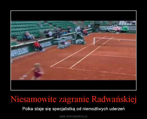 Niesamowite zagranie Radwańskiej – Polka staje się specjalistką od niemożliwych uderzeń