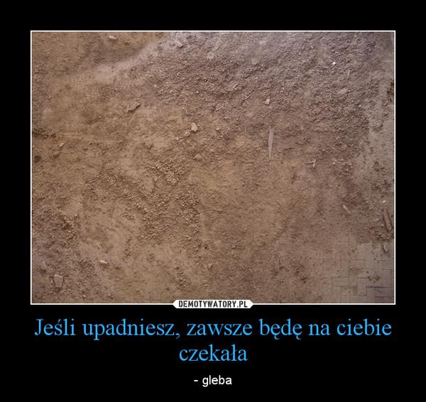 Jeśli upadniesz, zawsze będę na ciebie czekała – - gleba