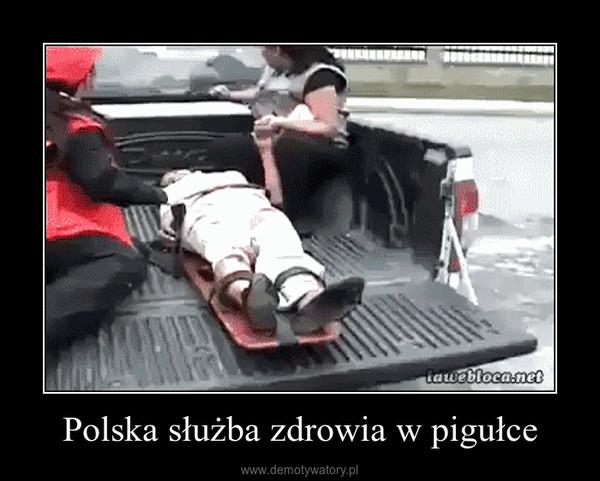 Polska służba zdrowia w pigułce –