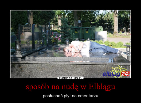sposób na nudę w Elblągu – posłuchać płyt na cmentarzu