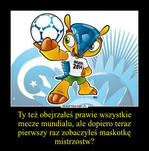 Ty też obejrzałeś prawie wszystkie mecze mundialu, ale dopiero teraz pierwszy raz zobaczyłeś maskotkę mistrzostw? –