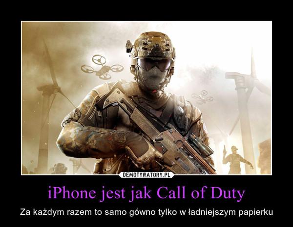 iPhone jest jak Call of Duty – Za każdym razem to samo gówno tylko w ładniejszym papierku