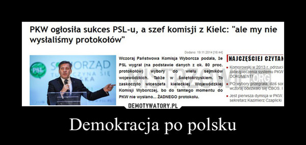 Demokracja po polsku –