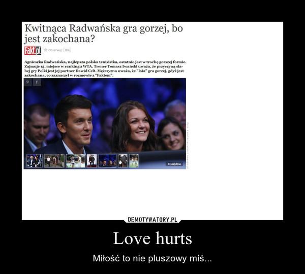 Love hurts – Miłość to nie pluszowy miś...
