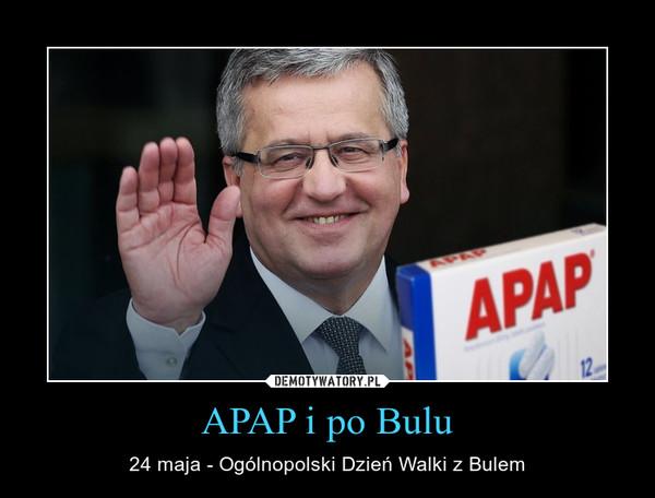 APAP i po Bulu – 24 maja - Ogólnopolski Dzień Walki z Bulem