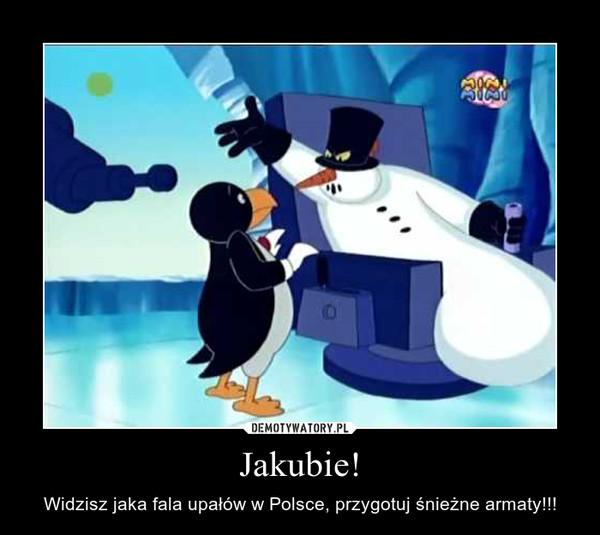 Jakubie! – Widzisz jaka fala upałów w Polsce, przygotuj śnieżne armaty!!!