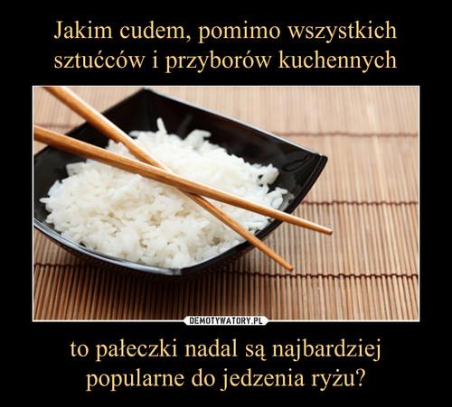 Jakim cudem, pomimo wszystkich sztućców i przyborów kuchennych to pałeczki nadal są najbardziej popularne do jedzenia ryżu?