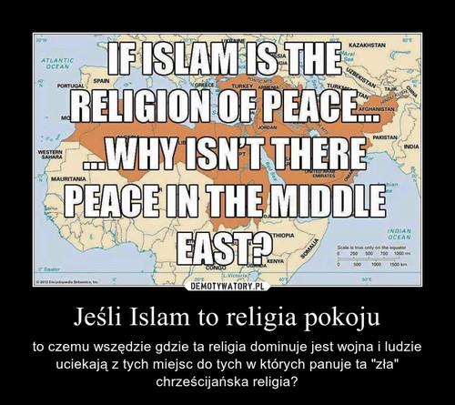 Jeśli Islam to religia pokoju