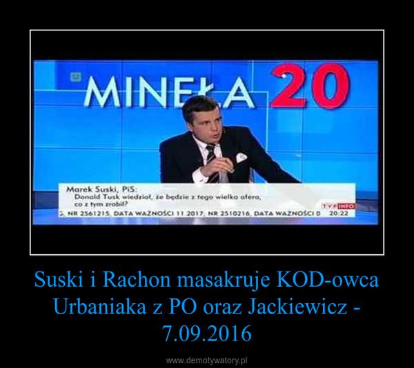 Suski i Rachon masakruje KOD-owca Urbaniaka z PO oraz Jackiewicz - 7.09.2016 –