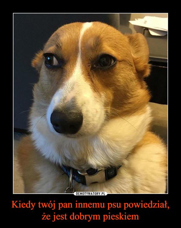 Kiedy twój pan innemu psu powiedział, że jest dobrym pieskiem –