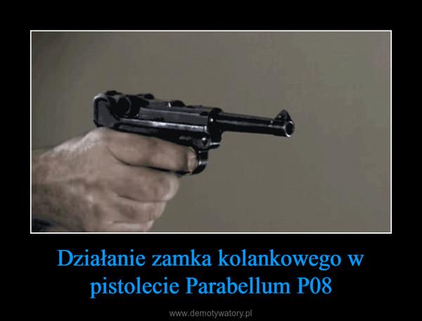 Działanie zamka kolankowego w pistolecie Parabellum P08 –