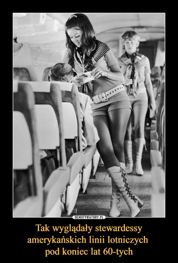 Tak wyglądały stewardessy amerykańskich linii lotniczych pod koniec lat 60-tych –