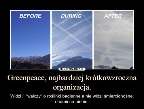 Greenpeace, najbardziej krótkowzroczna organizacja.