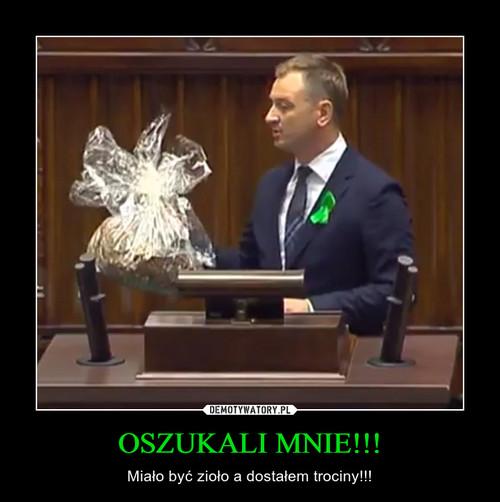 OSZUKALI MNIE!!!