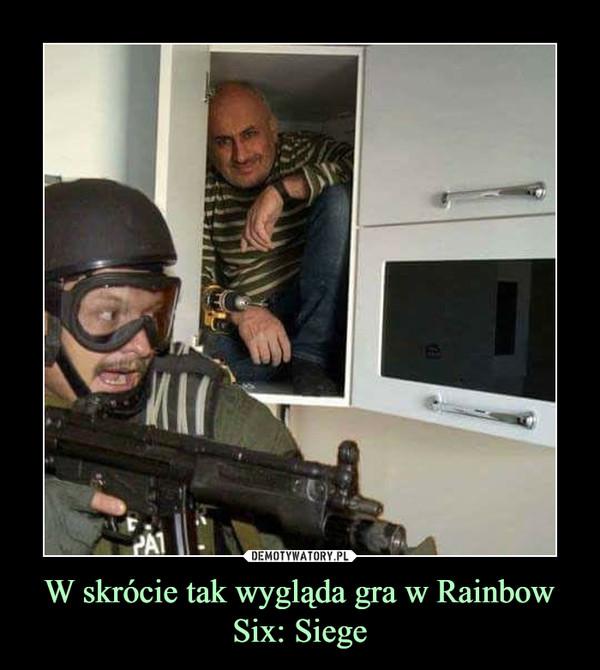 W skrócie tak wygląda gra w Rainbow Six: Siege –