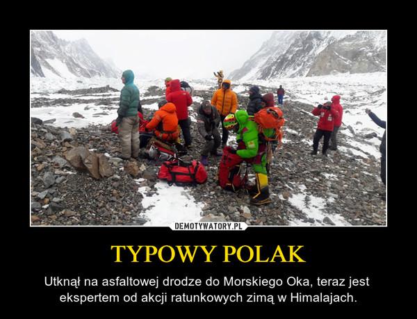 TYPOWY POLAK – Utknął na asfaltowej drodze do Morskiego Oka, teraz jest  ekspertem od akcji ratunkowych zimą w Himalajach.