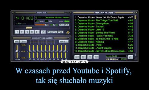 W czasach przed Youtube i Spotify,  tak się słuchało muzyki