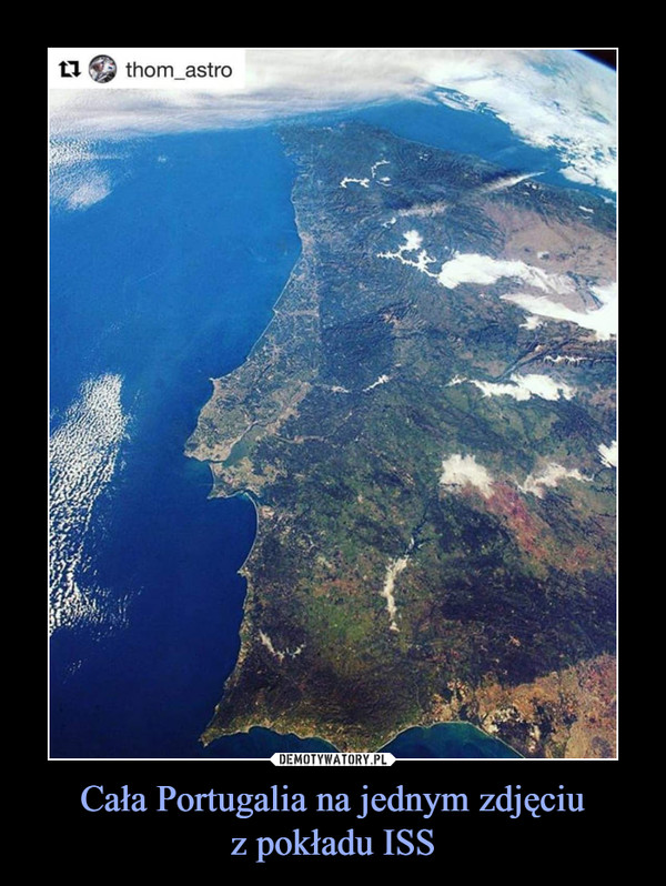 Cała Portugalia na jednym zdjęciuz pokładu ISS –