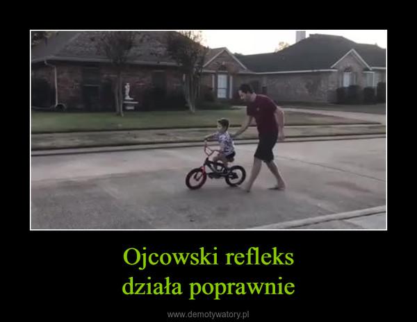 Ojcowski refleksdziała poprawnie –