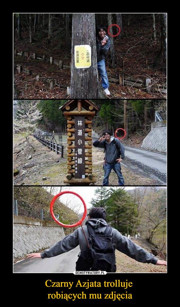 Czarny Azjata trolluje robiących mu zdjęcia –