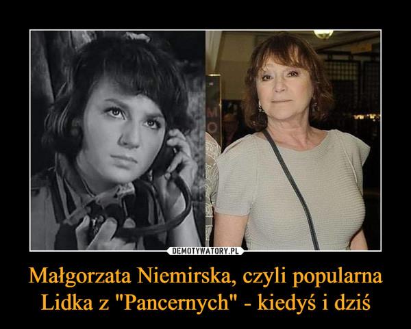 """Małgorzata Niemirska, czyli popularna Lidka z """"Pancernych"""" - kiedyś i dziś –"""