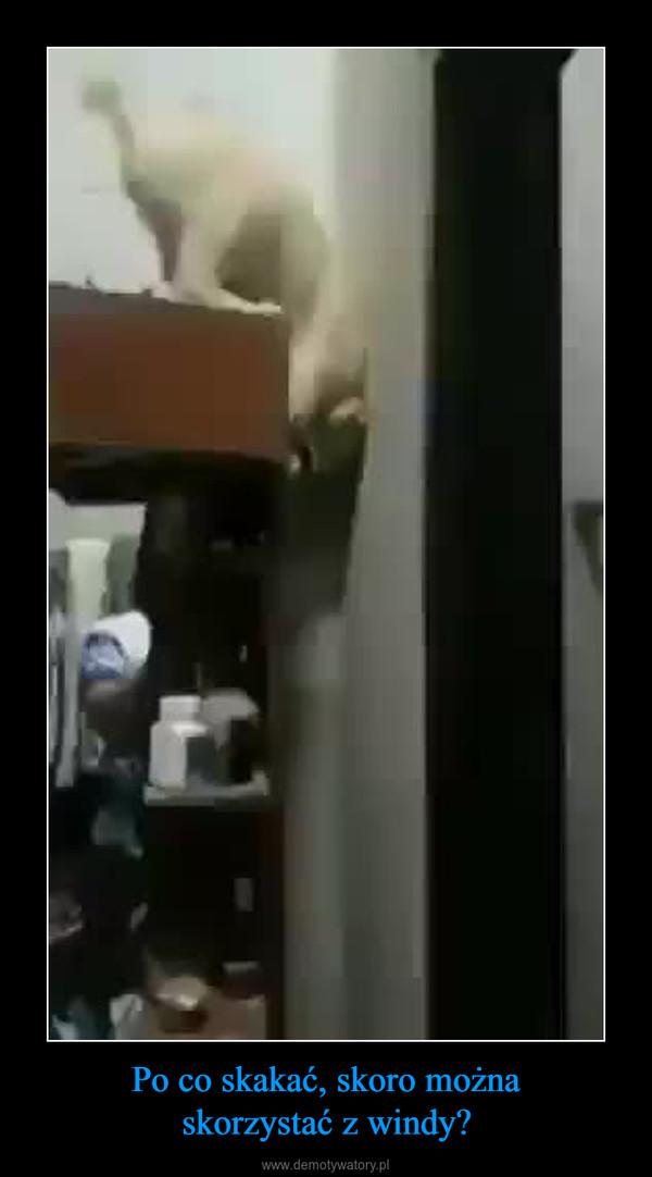 Po co skakać, skoro możnaskorzystać z windy? –