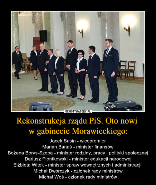 Rekonstrukcja rządu PiS. Oto nowi  w gabinecie Morawieckiego: