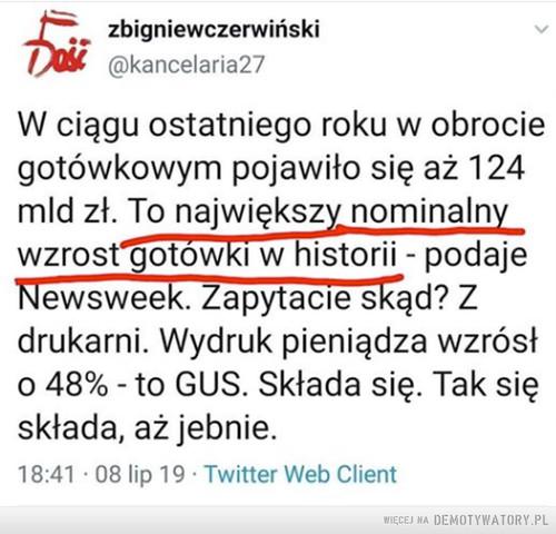 A może Morawiecki na studiach akurat chorował, gdy odbywały się wykłady o inflacji?