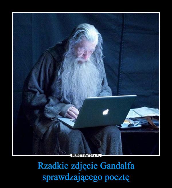 Rzadkie zdjęcie Gandalfa sprawdzającego pocztę –