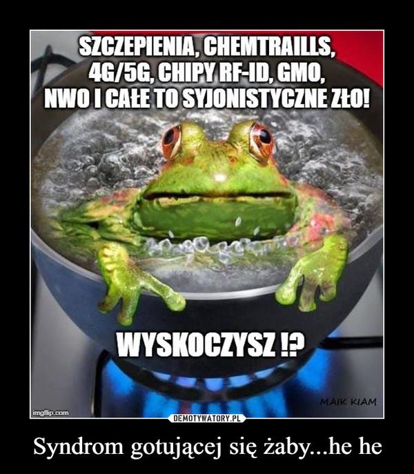 Syndrom gotującej się żaby...he he –