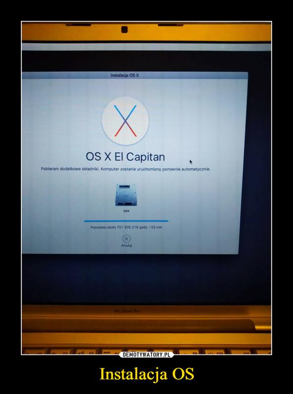 Instalacja OS –