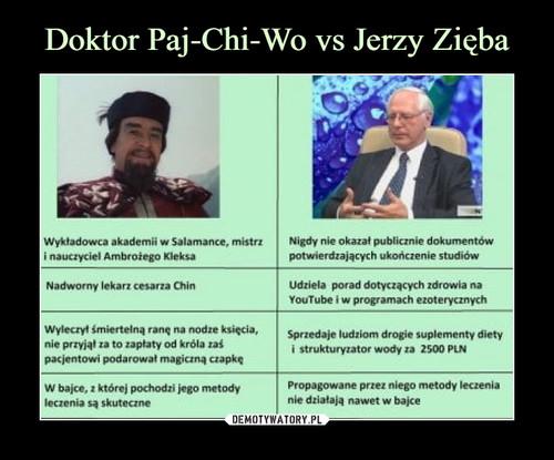 Doktor Paj-Chi-Wo vs Jerzy Zięba