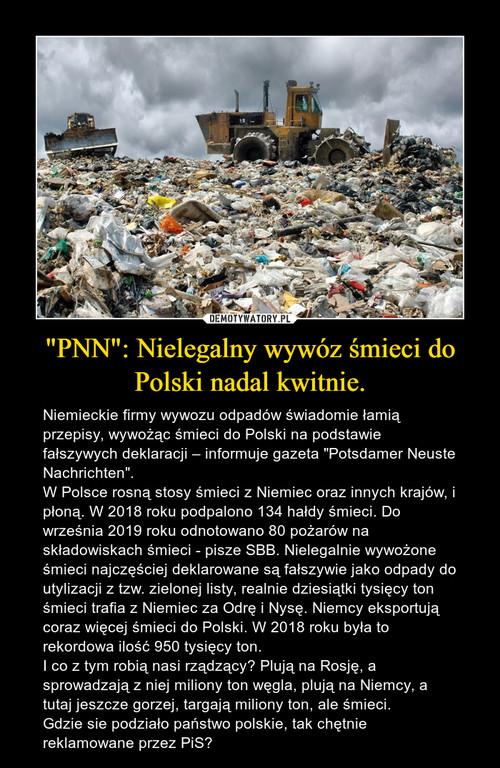 """""""PNN"""": Nielegalny wywóz śmieci do Polski nadal kwitnie."""