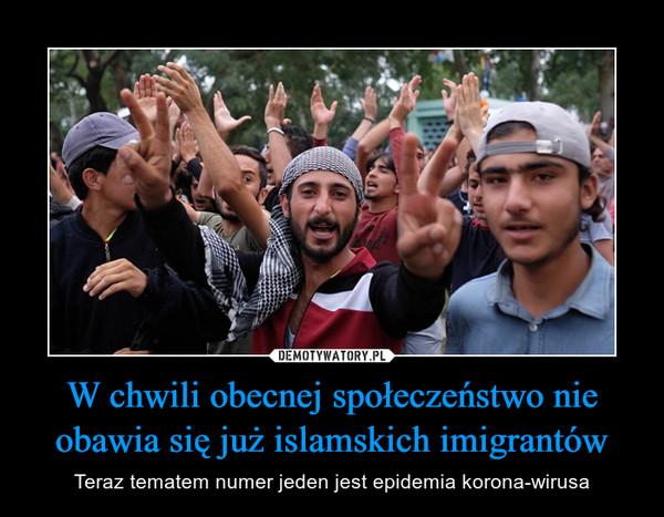 W chwili obecnej społeczeństwo nie obawia się już islamskich imigrantów – Teraz tematem numer jeden jest epidemia korona-wirusa