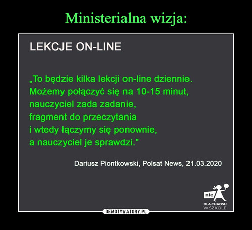 Ministerialna wizja: