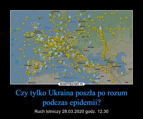 Czy tylko Ukraina poszła po rozum podczas epidemii?