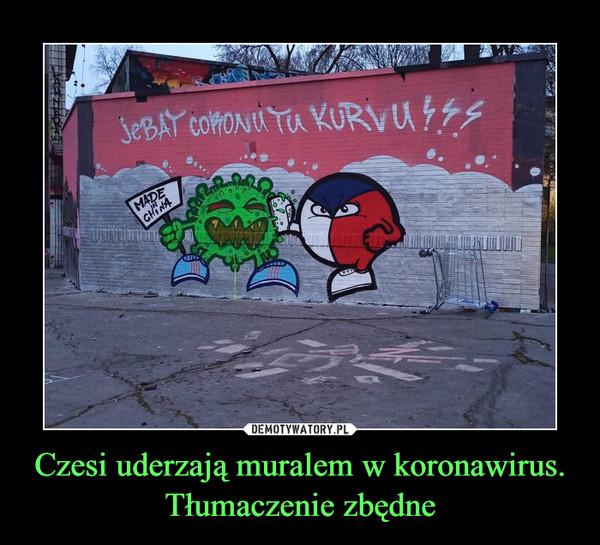 Czesi uderzają muralem w koronawirus. Tłumaczenie zbędne –