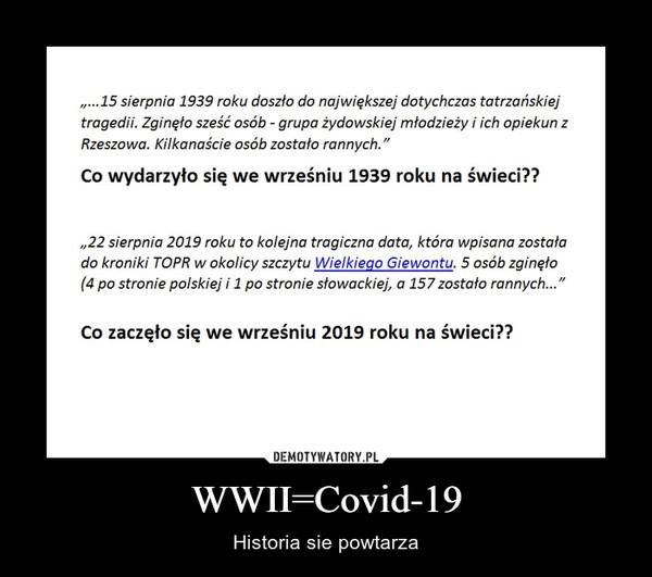 WWII=Covid-19 – Historia sie powtarza