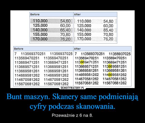 Bunt maszyn. Skanery same podmieniają cyfry podczas skanowania. – Przeważnie z 6 na 8.