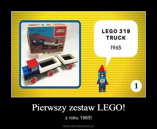 Pierwszy zestaw LEGO! – z roku 1965!