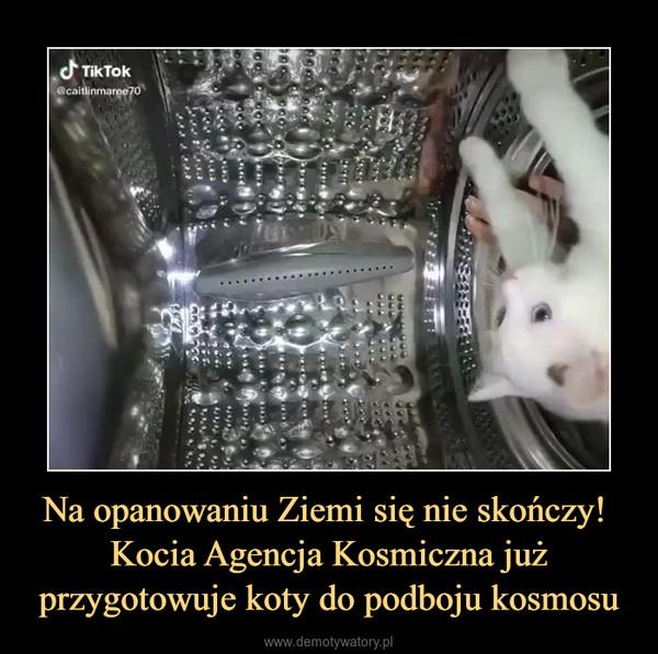 Na opanowaniu Ziemi się nie skończy! Kocia Agencja Kosmiczna już przygotowuje koty do podboju kosmosu –