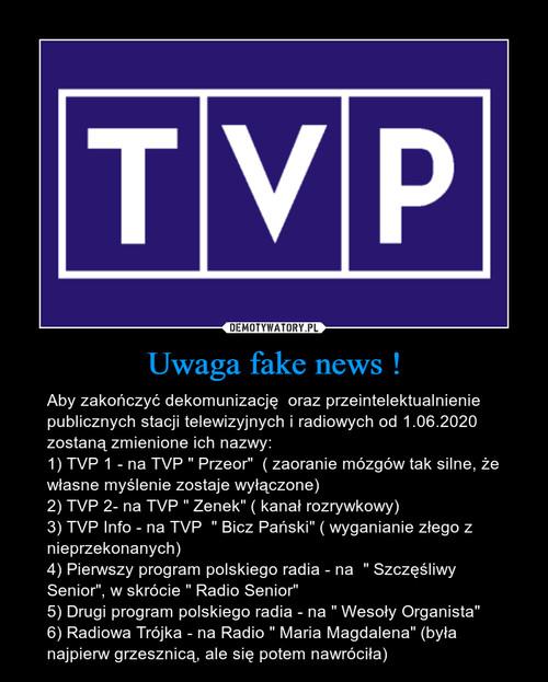 Uwaga fake news !